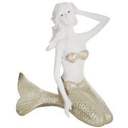 Coastal Home Sitting Mermaid Figurine