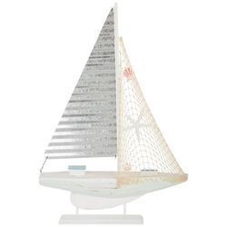 Coastal Home Metal Sailboat Tabletop Decor