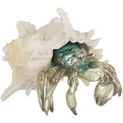 Coastal Home Hiding Crab Figurine