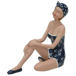 Sitting Beach Lady Figurine