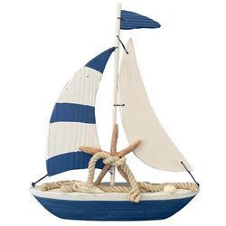 Striped Sailboat Tabletop Decor