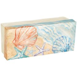 Coastal Home Shell & Starfish Capiz Shell Decorative Box