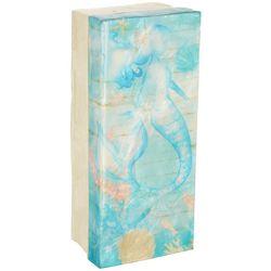 Coastal Home Mermaid Capiz Shell Decorative Box