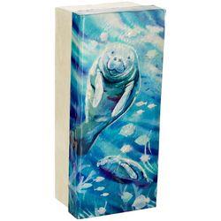 Coastal Home Manatee Capiz Shell Decorative Box