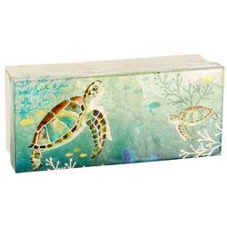 Coastal Home Sea Turtle Capiz Shell Decorative Box