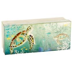 Sea Turtle Capiz Shell Decorative Box