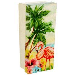 Coastal Home Flamingo Capiz Shell Decorative Box