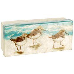 Coastal Home Sandpiper Capiz Shell Decorative Box