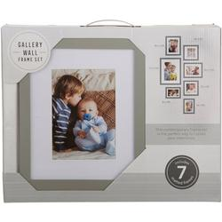 7-pc. Solid Matted Photo Frame Set