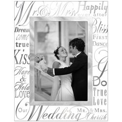 Malden Glass Mr. & Mrs. Picture Frame