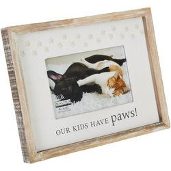 4'' x 6'' Our Kids Have Paws Photo Frame