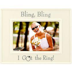 4'' x 6'' Bling Bling I Got The Ring Photo Frame