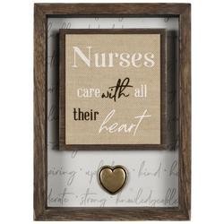 Nurses Care With All Their Heart Decor