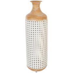 Sagebrook Home 22'' Metal Two Tone Vase