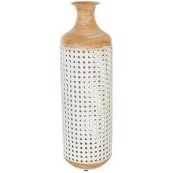 22'' Metal Two Tone Vase
