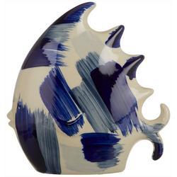 Ceramic Paint Stroke Fish Figurine