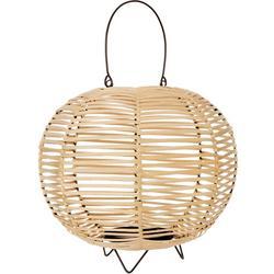 11'' Round Wicker Lantern