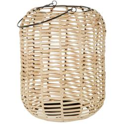 Round Wicker Candle Holder