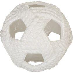 Sagebrook Home Ceramic Nautical Rope Ball Decor