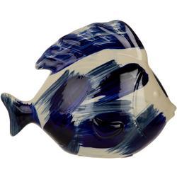 8'' Ceramic Paint Stroke Fish Figurine