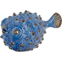 Sagebrook Home Small Ceramic Puffer Fish Figurine
