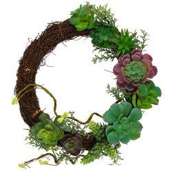 Flora Bunda 13.5'' Floral Succulent Wreath