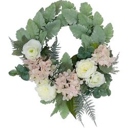 Coastal Home 20'' Peony Wreath