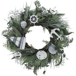 Coastal Home 22'' Nautical Sailboat Wreath