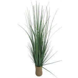 Coastal Home Artificial Grass in Rope Pot Arrangement