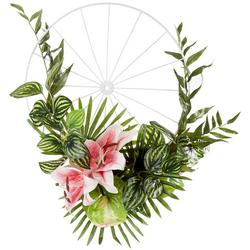Lily Wheel Decor