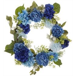 Coastal Home Blue Hydrangea Wreath