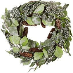 Melrose Glitter Berry Leaf Wreath