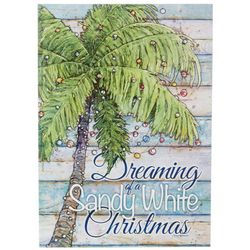 Sandy White Christmas Greeting Cards