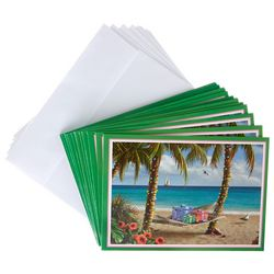 Palms & Presents Greeting Cards