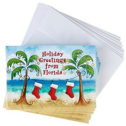 Cape Shore Palm Stocking Greeting Cards