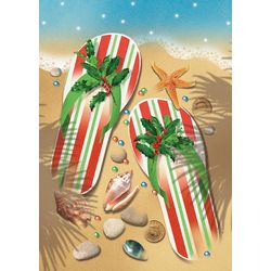 Cape Shore Holiday Flip Flops Greeting Cards