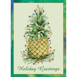 Pineapple Lights Greeting Cards