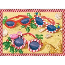 Holiday Sunglasses Greeting Cards