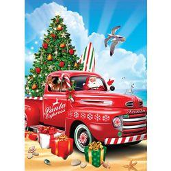 Brighten the Season Truck On Beach Greeting Cards