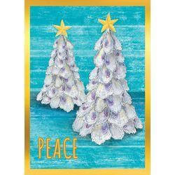 Brighten the Season Shell Christmas Tree Greeting Cards