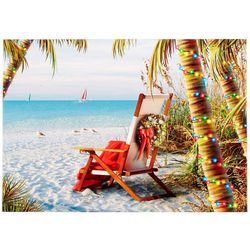Brighten the Season Beach Chair & Wreath Greeting Cards