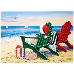 Brighten the Season Adirondack Beach Chairs Greeting Cards