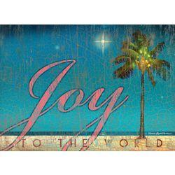 Brighten the Season Joy To The World Greeting Cards