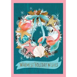 Brighten the Season Warmest Holiday Wishes Greeting Cards