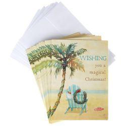 Brighten the Season Palm Tree Beach Chair Greeting Cards