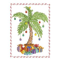 Brighten the Season Christmas Palm Tree Greeting Cards
