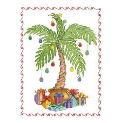 Christmas Palm Tree Greeting Cards