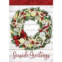 Brighten the Season Seaside Greetings Wreath Greeting Cards