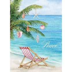 Brighten the Season Peaceful Holiday Palm Greeting Cards
