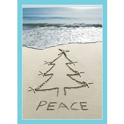 Brighten the Season Starfish Tree Sand Greeting Cards